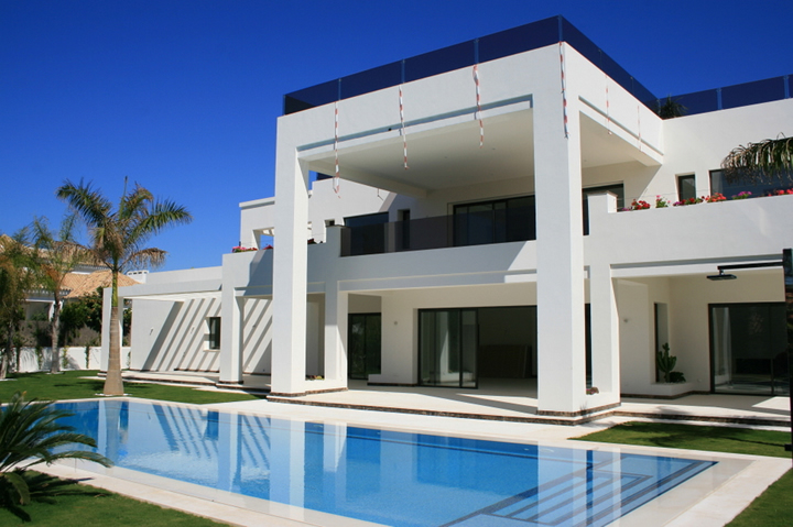 new build contemporary design villa in Marbella Spain