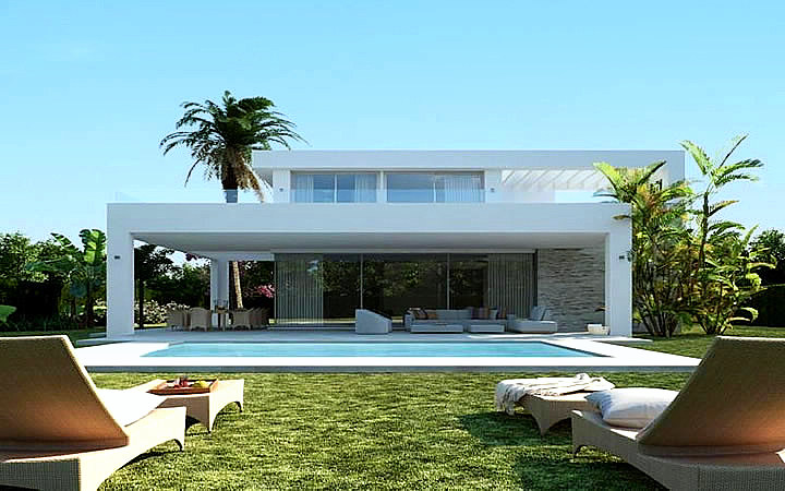 modern villa for sale in rio real, marbella