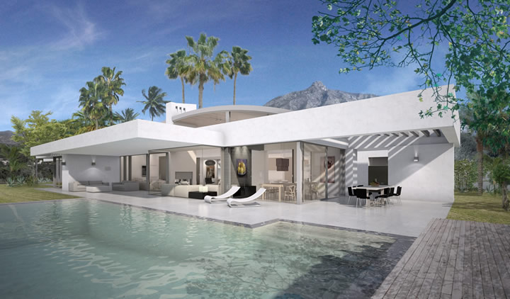 Modern villa for sale in Lomas de Marbella Club