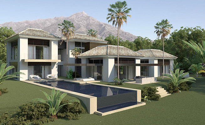 Villa project in El Vicario, Golden Mile, Marbella-Spain
