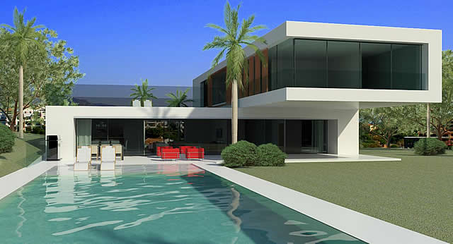 ultra modern villa design Marbella Spain