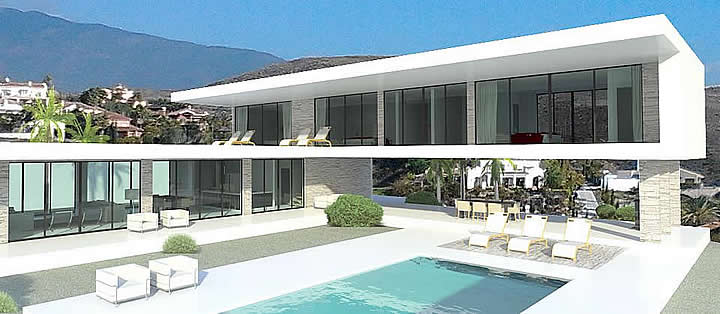 Contemporary villa marbella spain