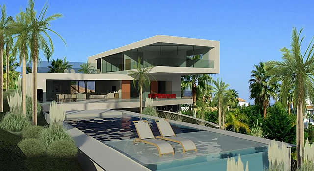 contemporary luxury villa with modern design in La Alqueria Atalaya Fairways Marbella