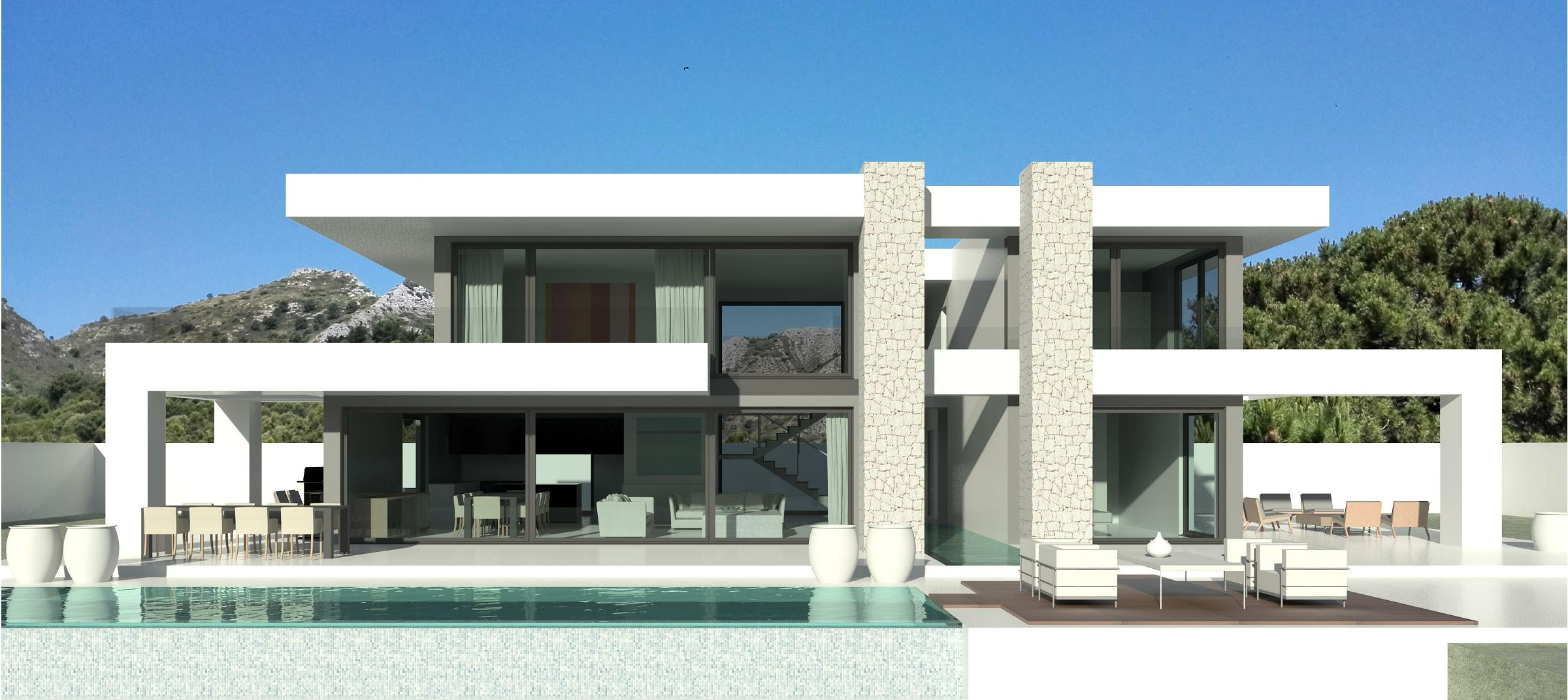 sculptural designer turnkey villa in the 5* Villa Padierna Golf Resort, Marbella